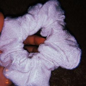 White Velvet Scrinchie